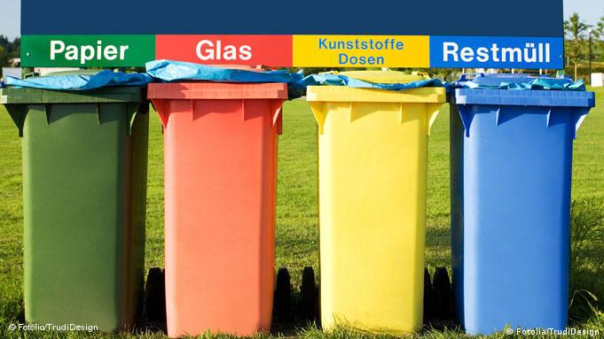 Garbage bins for different kids of waste