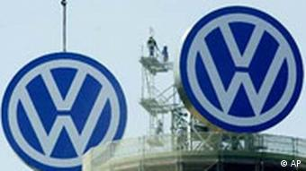 VW logos atop TV tower
