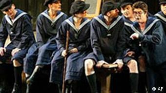 Szene aus der Oper Die Meistersinger von Nürnberg von Richard Wagner