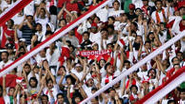 Indonesien Fußball Fans Fußballfans Asian Cup 2007 (AP)