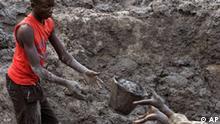 Demokratische Republik Kongo Mine Diamanten Diamantenmine
