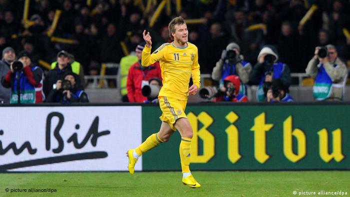 Андрій Єрмоленко на матчі Україна - Німеччина у листопаді 2011