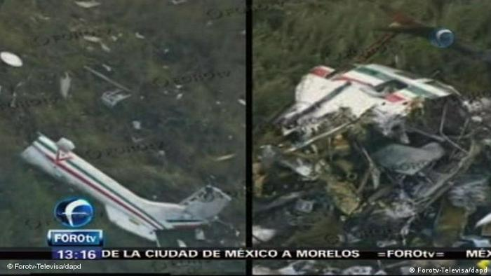 Mexiko Hubschrauberabsturz Hubschrauber Innenminister Blake Mora (Forotv-Televisa/dapd)