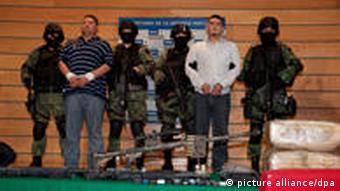 Drug cartel members after their arrest