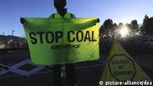 Greenpeace beim Eskom Megawatt Park in Südafrika