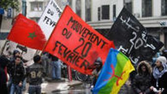 Marokko Wahl Wahlen November 2011 Protest Demonstration gegen die Regierung