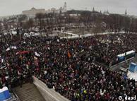 تظاهرات عظیم ۱۰ دسامبر در مسکو که در آن دهها هزار تن شرکت کرده بودند
