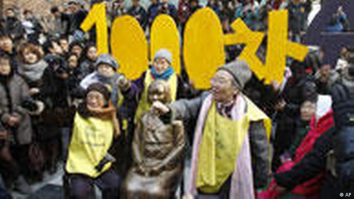Soth Korea sex-slave protes
