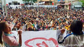 WUKAN, China - More than 1,000 residents protest corruption involving a local Communist leader during a rally in the village of Wukan in Lufeng, Guangdong Province, China, on Dec. 13, 2011. (Kyodo)