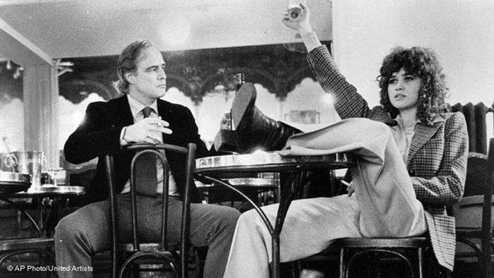 Bernardo Bertolucci with Maria Schneiderm. Last Tango in Paris.