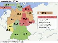 Mapa da pobreza na Alemanha em 2011
