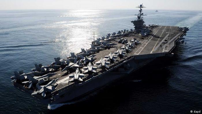 ناو هواپیمابر استنیس آمریکا در خلیج فارس