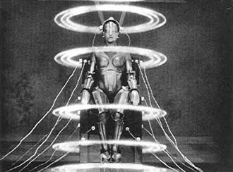 A scene from the edited version of the Fritz Lang film Metropolis