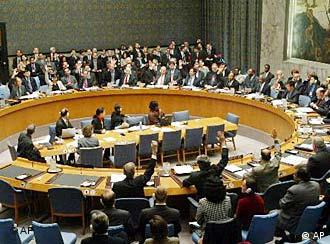 In session: the U.N. Security Council unanimously approved a new Iraq resolution last November.