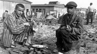 Konzentrationslager Dachau 1945: Quelle: Gedenkstätte Dachau