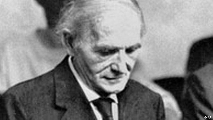 Klaus Barbie in court