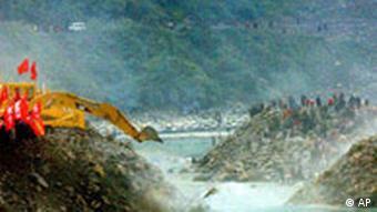 Dammbau in China