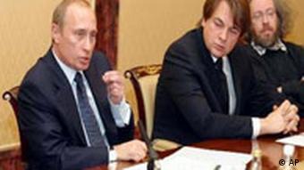 Владимир Путин, Константин Эрнст, Алексей Венедиктов