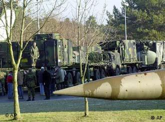 The Patriot radar guided anti-aircraft missiles system of the German army