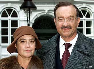 El actor Armin Mueller Stahl en el papel de Thomas Mann y la actriz Monica Bleibtreu (Katia Mann).