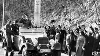 Photo of Hitler entering Vienna in March, 1938