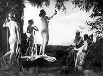 Szene aus einem Film zur Propagierung der Freikörperkultur von 1925