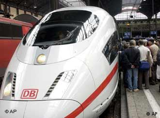 A Deutsche Bahn ICE train