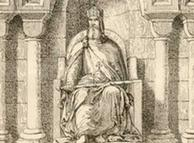 Carlomagno, rey de los francos y emperador romano.