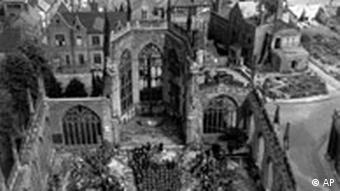 Zerbombte Kathedrale von Coventry, England