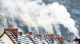 Winter Schornsteine Rauch