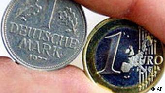 Euro DM im Vergleich