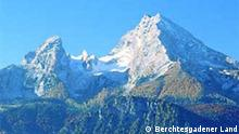 Der Watzmann (2713 m), zweithöchster Gipfel Deutschlands und höchster Berg der Berchtesgadener Landes © Kurdirektion des Berchtesgadener Landes