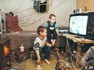 Niños refugiados chechenos en Rusia