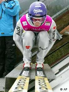 Skispringer Martin Schmitt in Oberstdorf