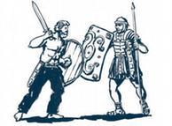 Germanos enfrentaram romanos (ilustração de R. Bergt)