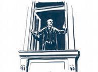 Proclamação da República de Weimar em ilustração de Raimo Bergt
