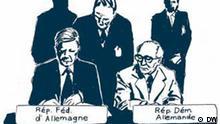 25. KSZE: Helmut Schmidt und Erich Honecker unterzeichnen die Schlußakte von Helsinki Deutsche Geschichte, Zeichnung