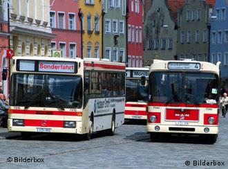 Buses in a German town