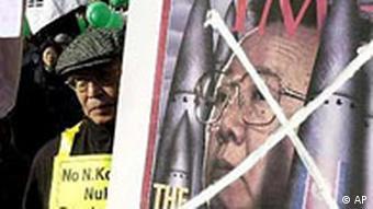 Südkorea: Demonstration gegen die Atompolitik Nordkoreas