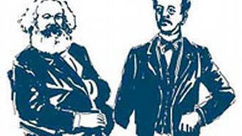 Карл Маркс и Фердинанд Лассаль. Рисунок современника
