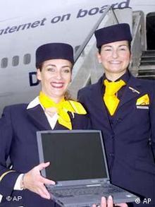 Lufthansa mit Internet