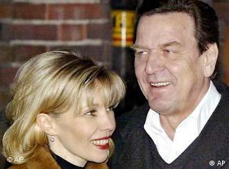 The incident unsettled Schröder, pictured here with his wife.