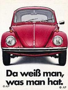 Der VW Käfer Plakat