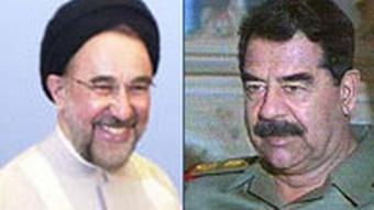 Saddam Hussein und Irans Präsident Khatami