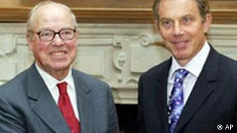 Hans Blix und Tony Blair in London