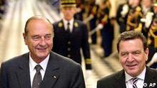 Chirac und Schröder in Versailles