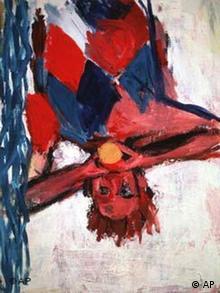 Orangenesser Malerei von Georg Baselitz