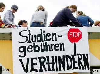 Prevent student fees, reads the sign