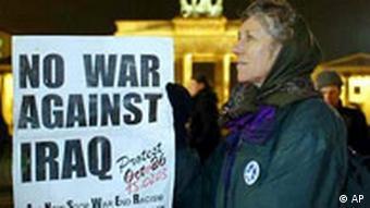 Demonstrant gegen Krieg in Berlin