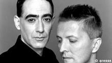 DAF Musik Gabi Delgado und Gröl der Musikgruppe Deutsch -Amerikanische-Freundschaft